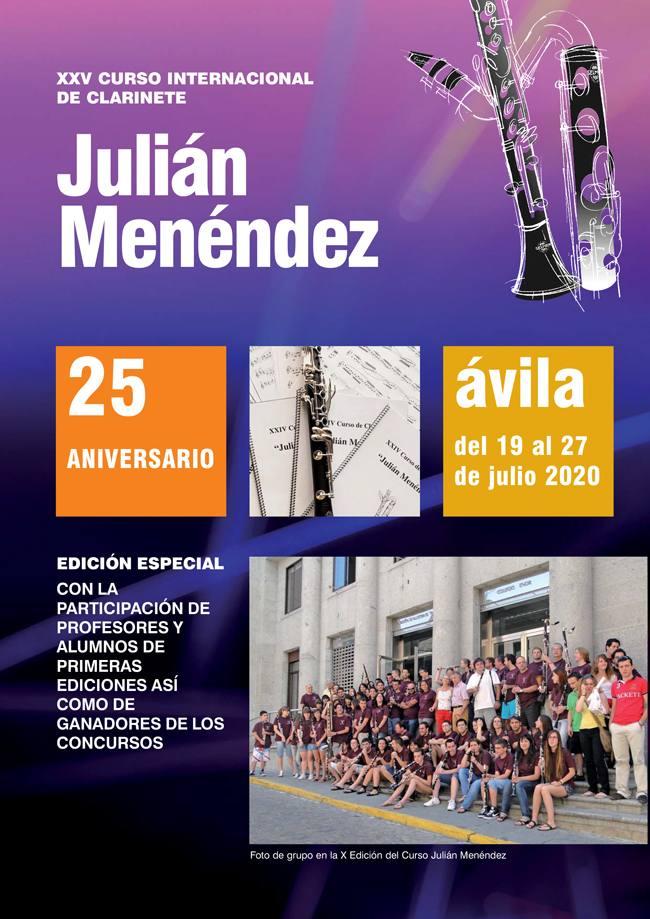 XXV CURSO INTERNACIONAL DE CLARINETE. JULIÁN MENÉNDEZ