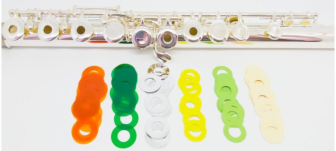 Arandelas de papel para flauta